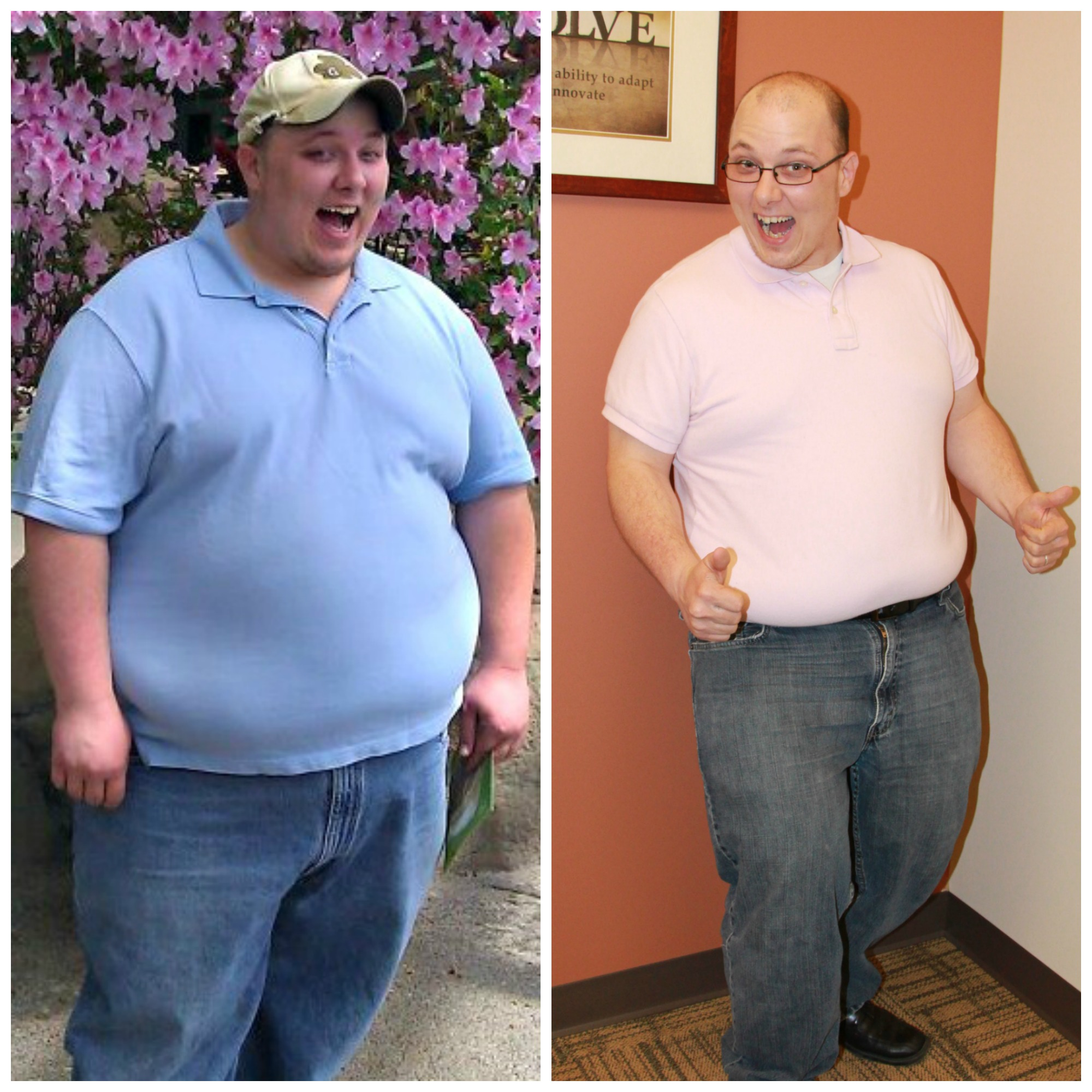 Before and After Weight Loss Picture Justin Sparks