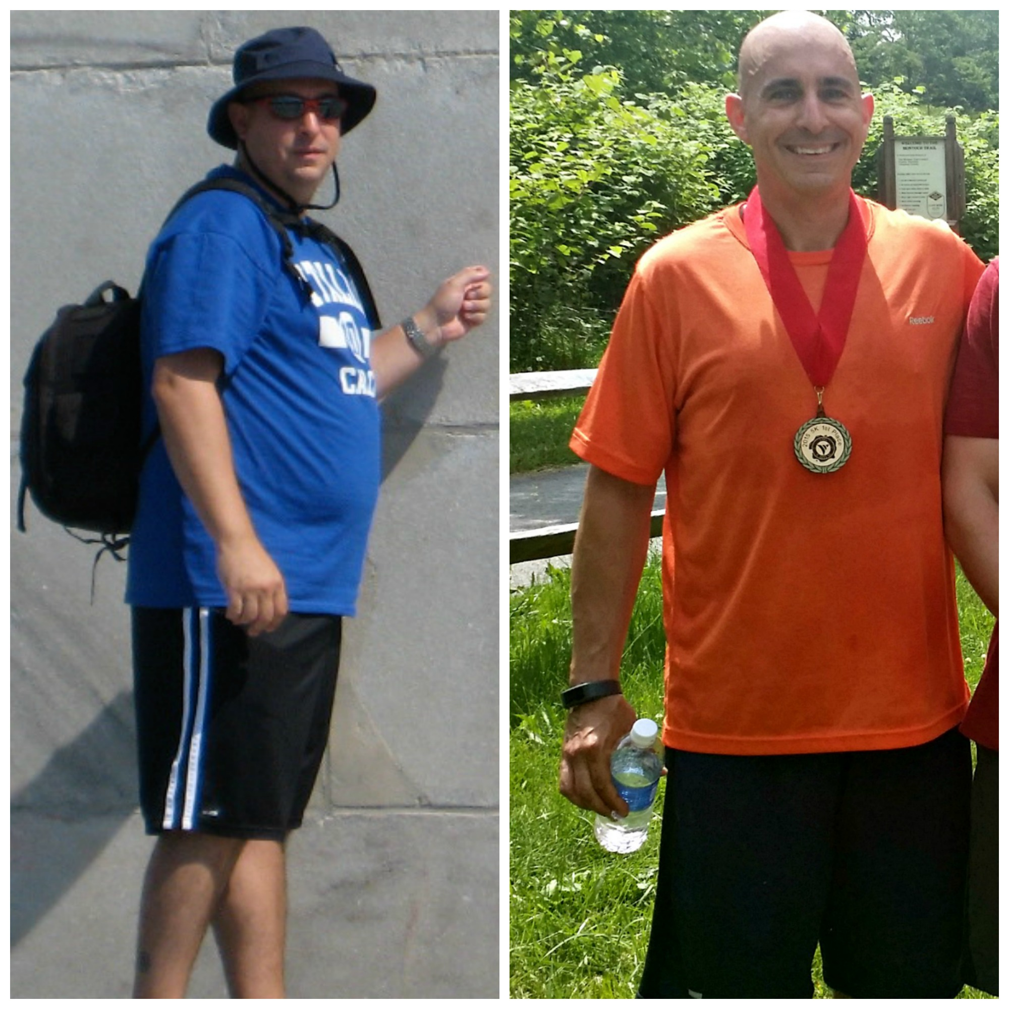 Before and After Weightloss Jeff Tapolci