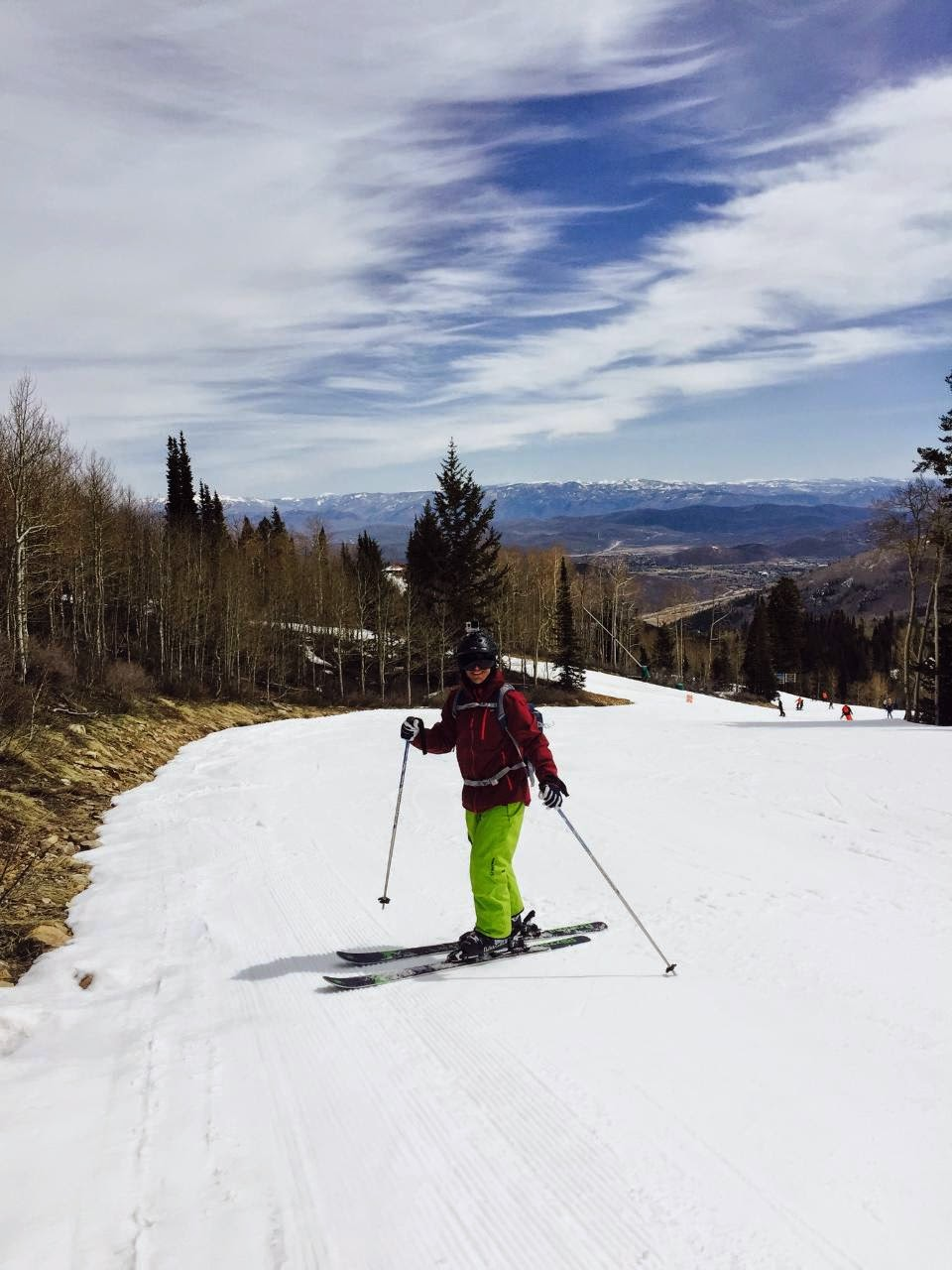 Jeff Tapolci skiing