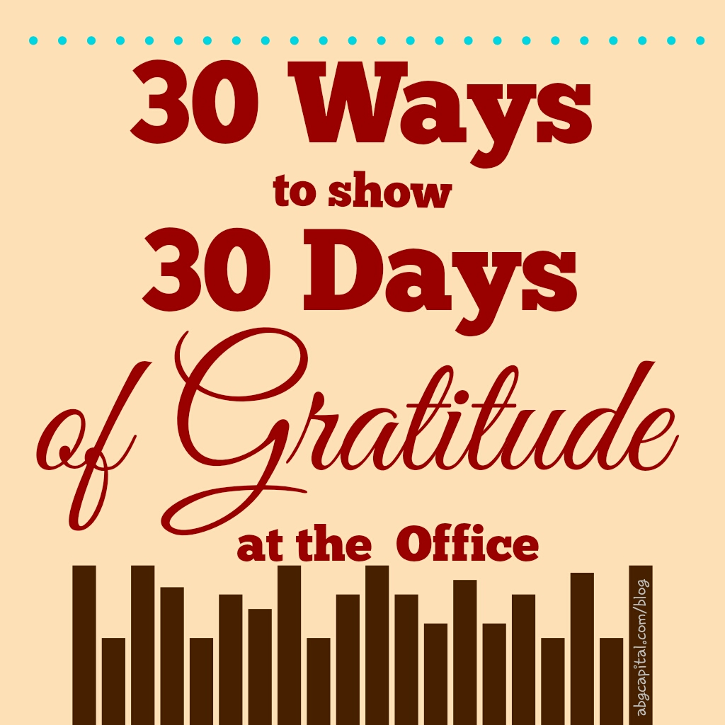 30 Days of Thankful at the Office