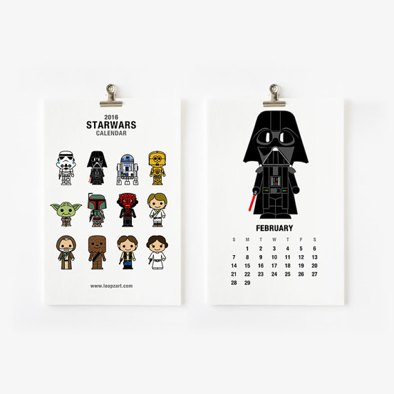 Star Wars Calendar I Celebrate Boss's Day I ABG Capital